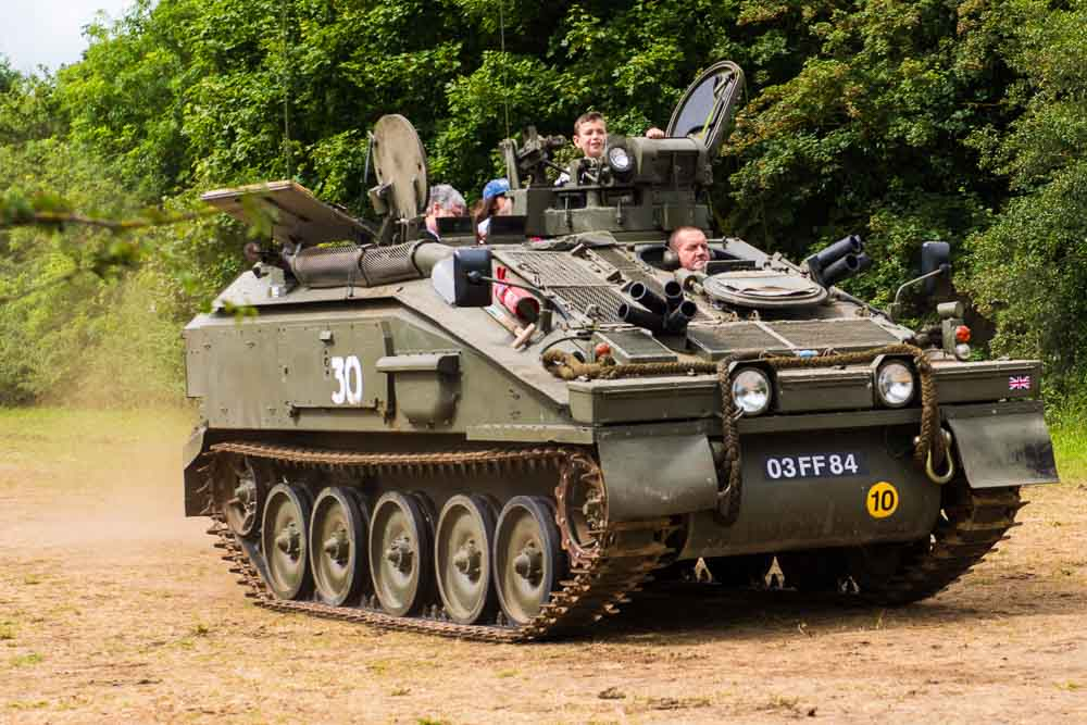 Tank rides will be part of the fun at the show